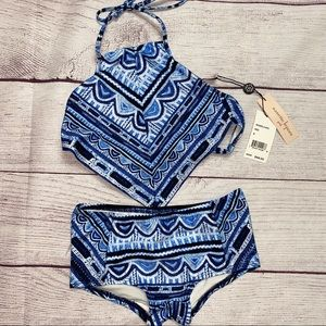 NWT Girl's Halter Style 2 piece Bathing Suit